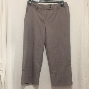 Worthington Stretch Size 8 Capri  Brown stripe